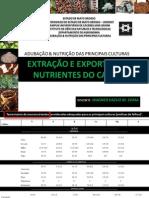 EXTRAÇÃO E EXPORTAÇÃO DE NUTRIENTES DO CAFEEIRO