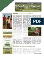 Planting Malawi - December Newsletter