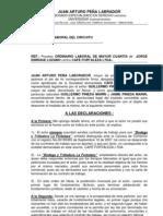 CONTESTACIÓN DEMANDA LABORAL DE JORGE ENRIQUE LOZANO CONTRA CAFE FORTALEZA LTDA. (JUAN ARTURO PEÑA).doc