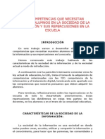 COMPETENCIAS DE NUESTRO ALUMNOS EN LA SOCIEDAD DE LA INFORMACIÓN