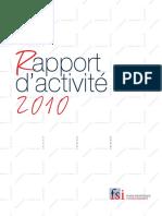 Rapport Annuel Fsi 2010 - Fr