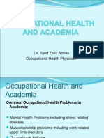 Occupational Health and Academia 1[1]