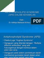 Antiphospholipid Syndrome Dalam Kehamilan