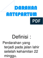 PERDARAHAN ANTEPARTUM