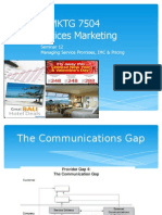 Lecture 12 Communications, Pricing, Service Promises