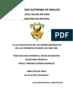Tesis La Cultura Politica de Los Lideres Neopanistas[1]