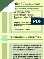 Bioética I presentacion del programa