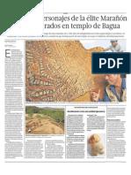 Descubrimiento arqueológico en templo de Bagua, Perú