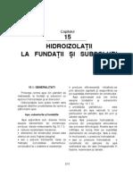 Hidroizolatii La Fundatii Si Subsoluri