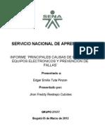 Deteccion de Fallas en Equpos Electronicos