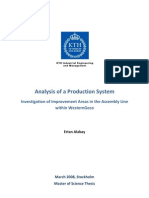 Analysis of a Production System