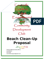Beach Clean Up Proposal