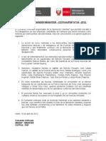 COMUNICADO MINDEF-MININTER - CCFFAA-PNP Nº 04 - 2012 Final