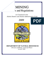 Alaska Mining Laws & Regulations Booklet