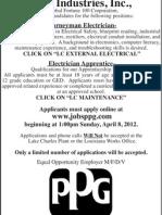 PPG Employment Flyer