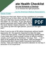 The Ultimate Health Checklist