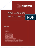 New Generation Ni Hard Pumps