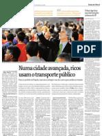 """Entrevista Enrique Peñalosa en diario """"Folha"""" de Sao Paulo"""