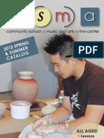 CSMA Catalog Spring & Summer 2012 Course Catalog (update)