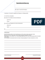Spendevereinbarung/Spendervertrag