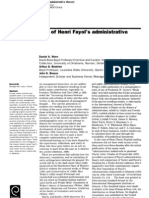 Fayol's Foundations