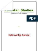 Pakistan Studies Complete Notes (Question Answer Format)