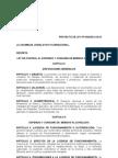 Proyecto de Ley N° 342 de Control al Expendio y Consumo de Bebidas Alcohólicas