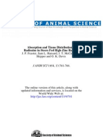 Absoption and Tissue Distribution of Radiozinc i Steers Fed High Zinc Rations