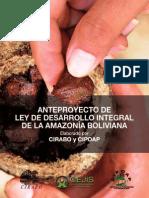 Anteproyecto de Ley de Desarrollo Integral de la Amazonía Boliviana