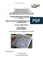Análisis de Objeto Técnico La Pantalla Touchscreen