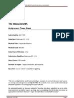 Corporate Finance Individual Assigment