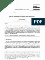 Lazard 2001 Grammaticalisation of EV