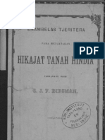 Hikajat Tanah Hindia - G.J.F. Biegman
