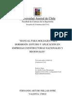 Manual Para Moldajes Para Hormigon-Estudio y Aplicacion en Empresas Consrtructoras Chile