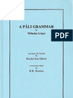 A Pali Grammar - Wilhelm Geiger OCR