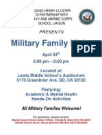 Military Family Night. Lewis Middle School