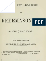 Letters and Addresses on Freemasonry - j Quincy Adams