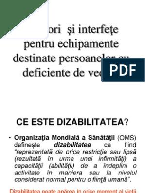 echipament pentru persoanele cu deficiențe de vedere)