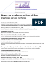 Mulheres contra as DST e Aids - Marcos que norteiam as políticas públicas brasileiras para as mulheres - 2010-03-08