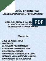 Innovacion en Mineria Un Desafio Social
