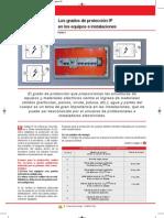 Los grados de protección IP en los equipos e instalaciones V