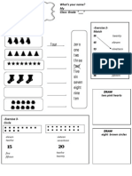 Numbers 0-20 Practice Exercises