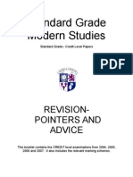Standard Grade Modern Studies- EXAM BOOKLET