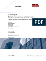 A Survey of Systems Engineering Effectiveness  - Initial Results