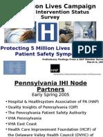 5 Million Lives Campaign Hospital Intervention Status Survey Results