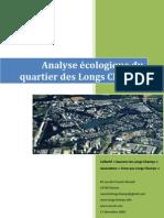 Analyse écologique du quartier des Longs Champs