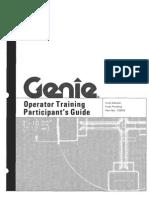 Genie Operators Training Participants Guide