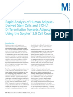 Rapid Analysis of Human Adipose- Derived Stem Cells and 3T3-L1 Differentiation Towards Adipocytes Using the Scepter™ 2.0 Cell Counter