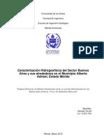Caracterización Hidrogeofísica del Sector Buenos Aires, Mérida, edo Mérida