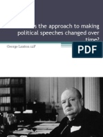 Political Speeches and the Techniques Used